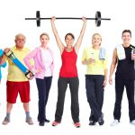 Baby Boomers working out