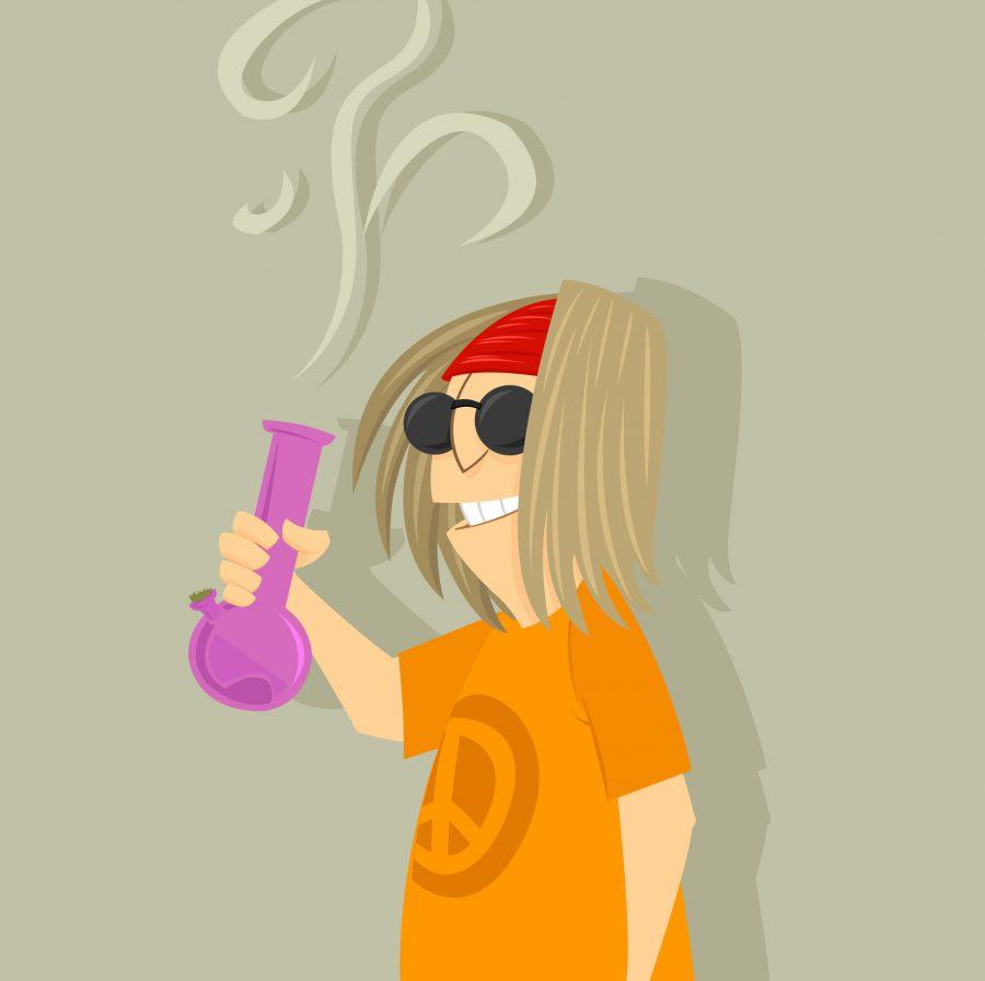 cartoon hippie high