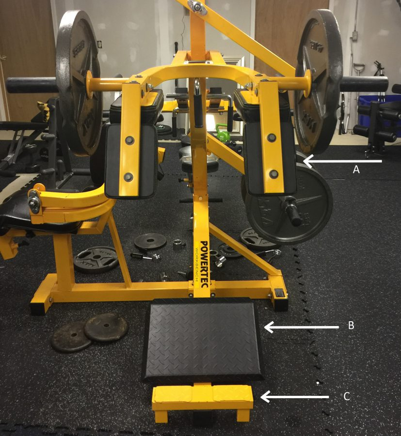 Powertec workbench home gym for Squat station